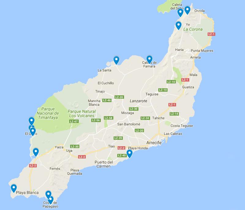 Lanzarote mapa