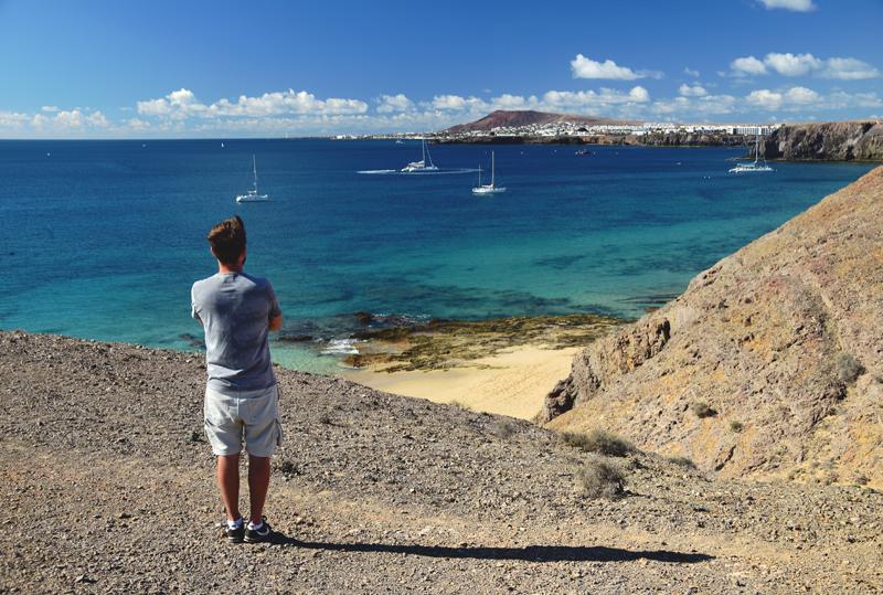 krajobraz na Lanzarote Playa Blanca