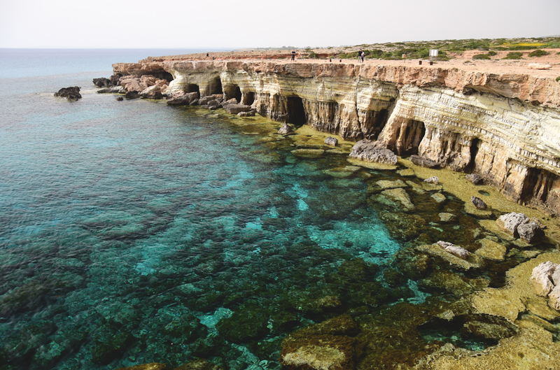 Cypr jaskinie morskie