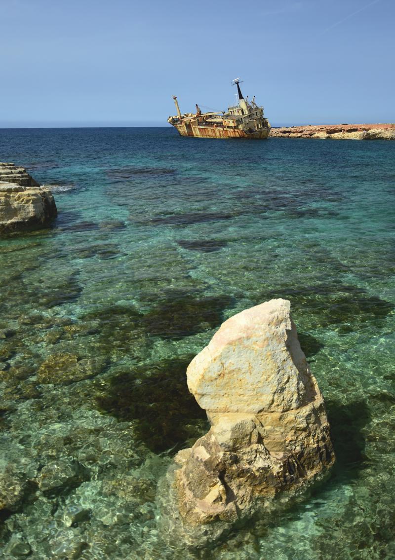 Cypr wrak statku