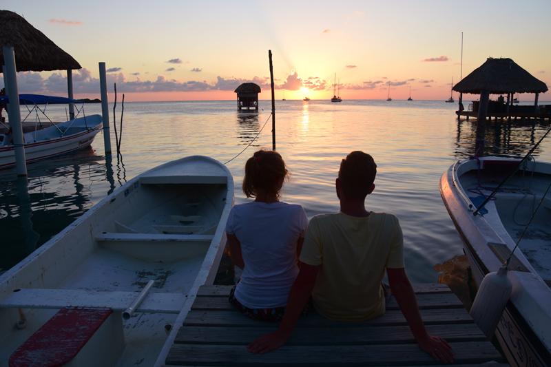 karaiby zachód słońca