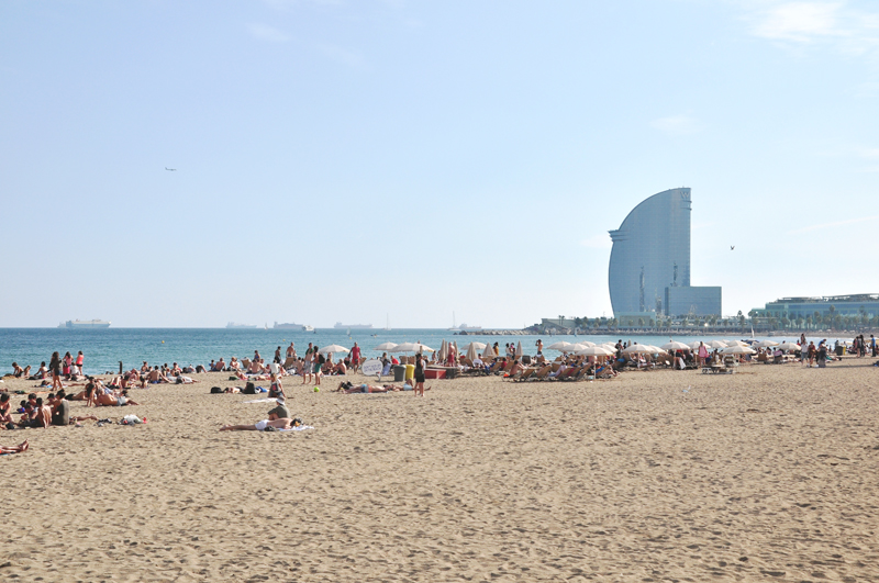 plaże Barcelona