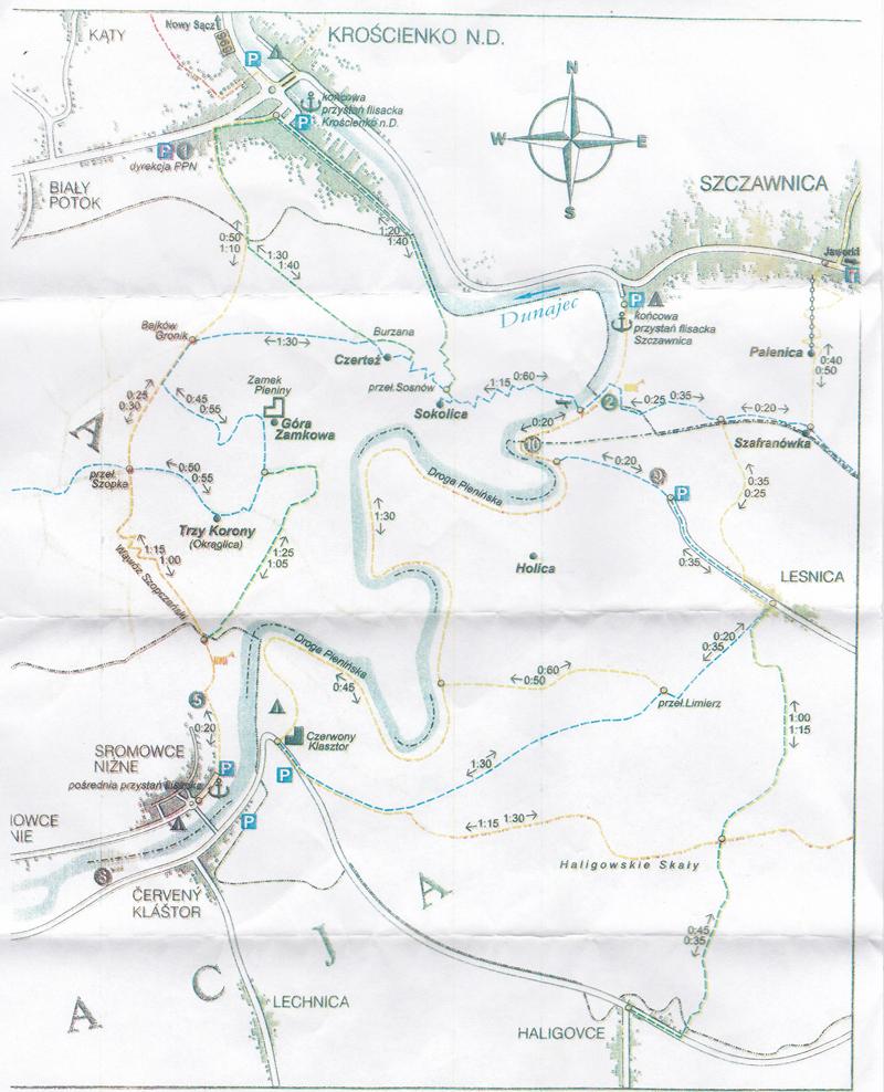 Pieniny Mapa Szlaków