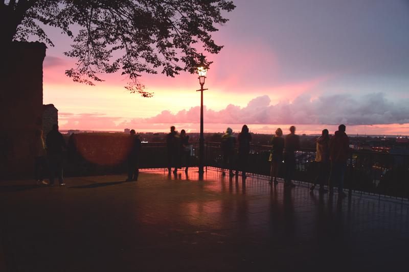 tallin zachód słońca