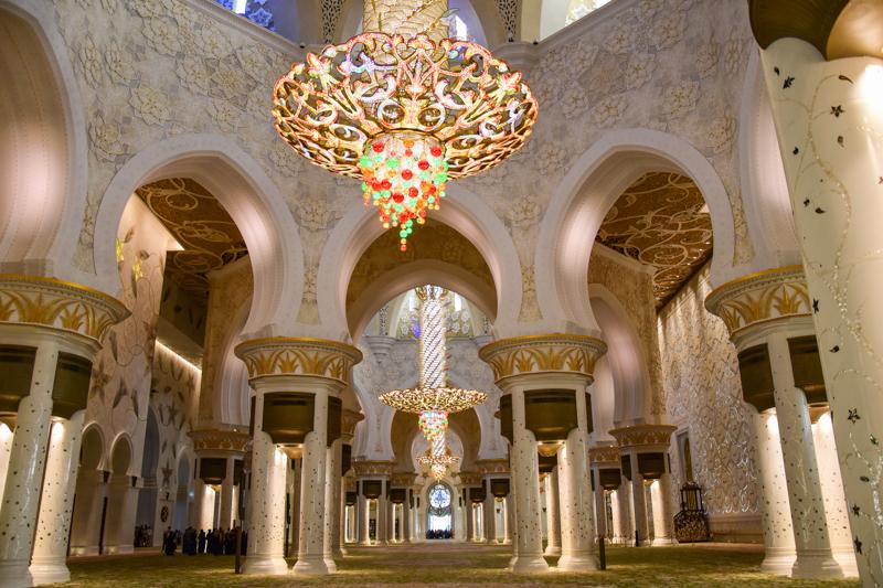 Wielki Meczet Szejka Zajida wnętrze