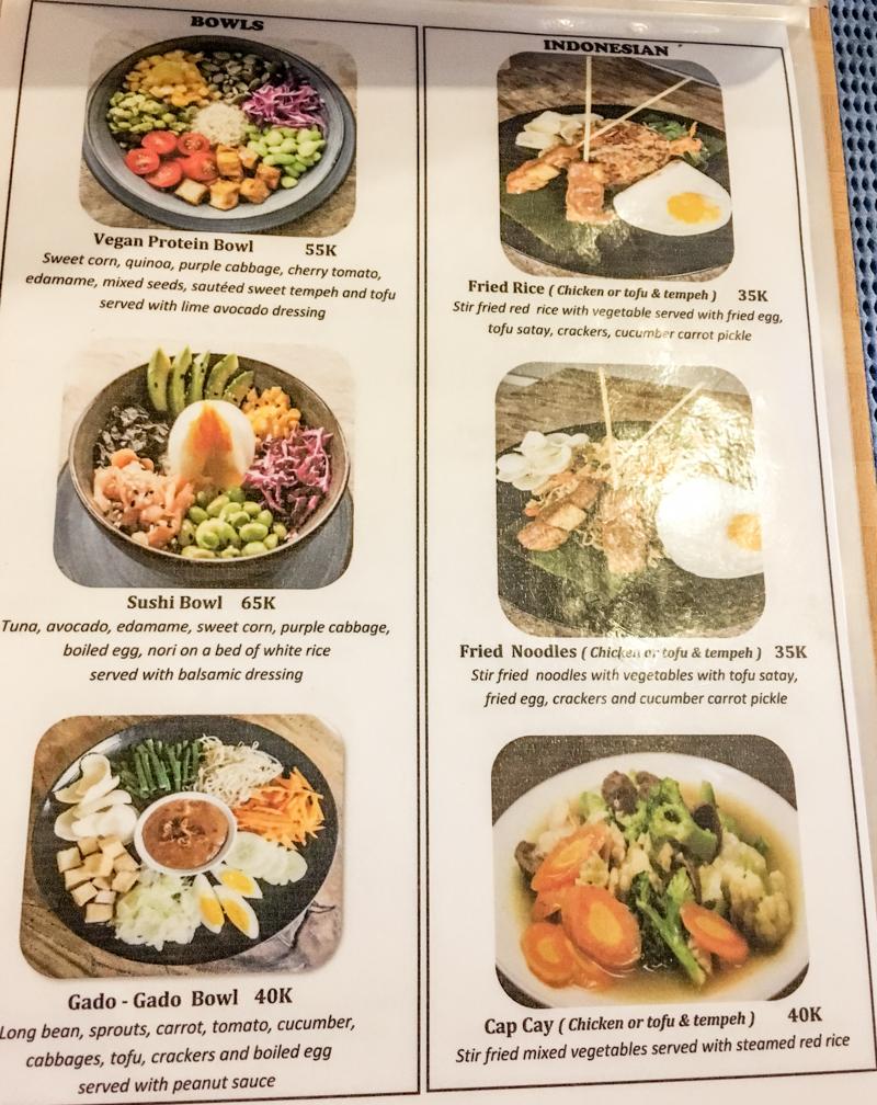 Bali ceny w restauracjach