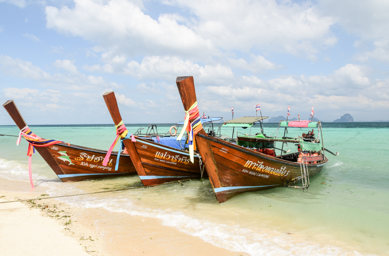 Łodzie w Tajlandii