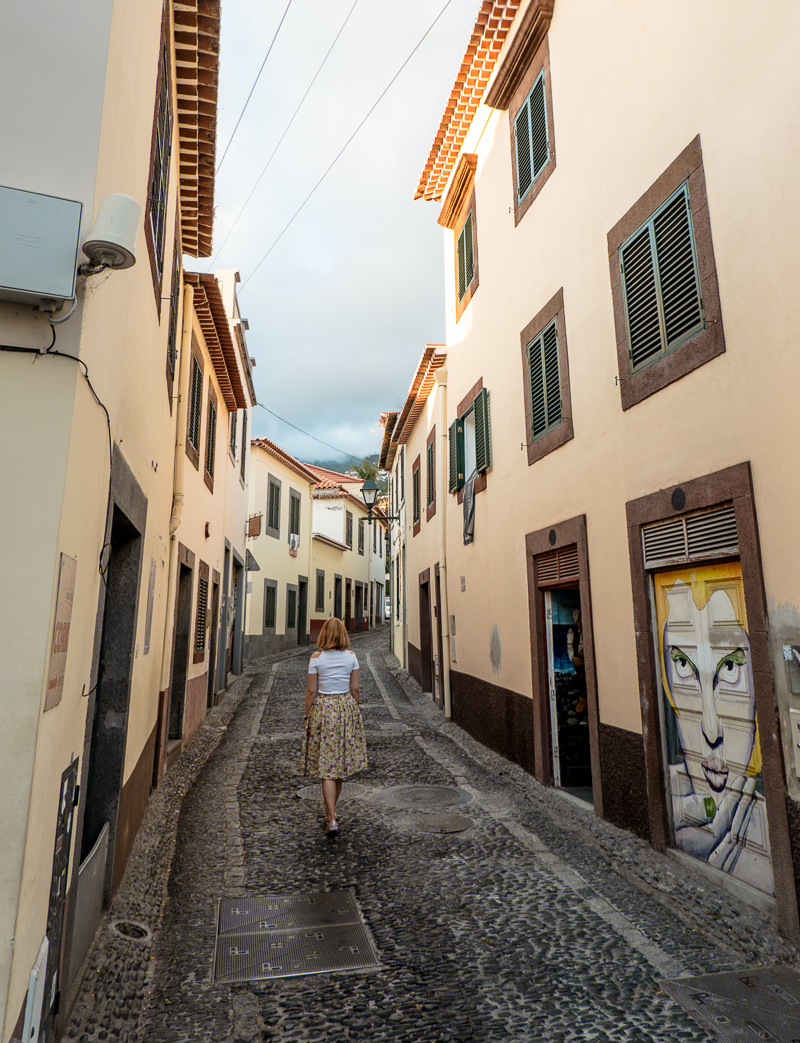 Ulice starego miasta w Funchal